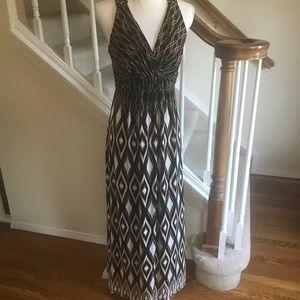 Soma soft jersey printed maxi dress size M